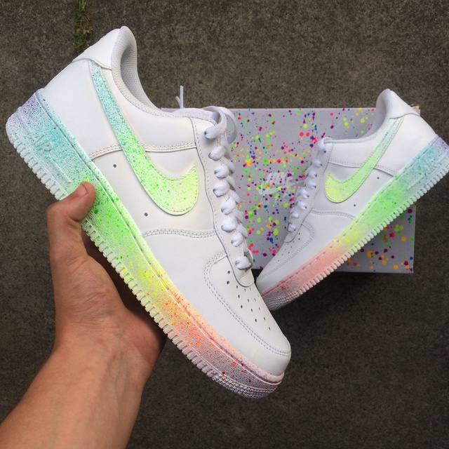 Nike AF1 White Rainbow Speckle