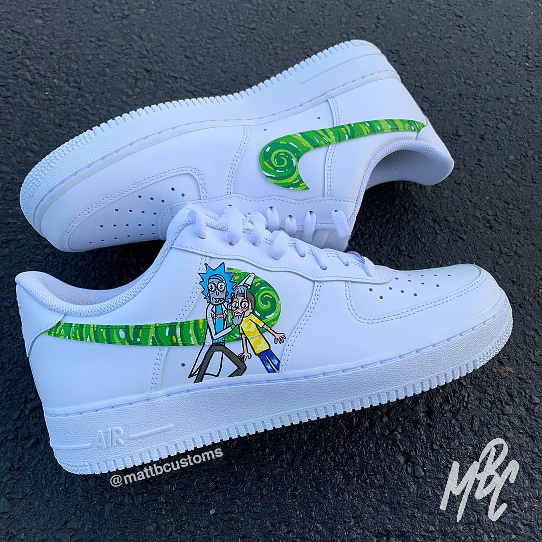 Rick And Morty Custom Nike Air Force 1. | THE CUSTOM MOVEMENT